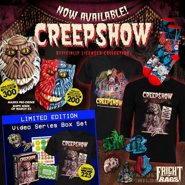 [News] Fright-Rags Announces New Creepshow & The Evil Dead Products