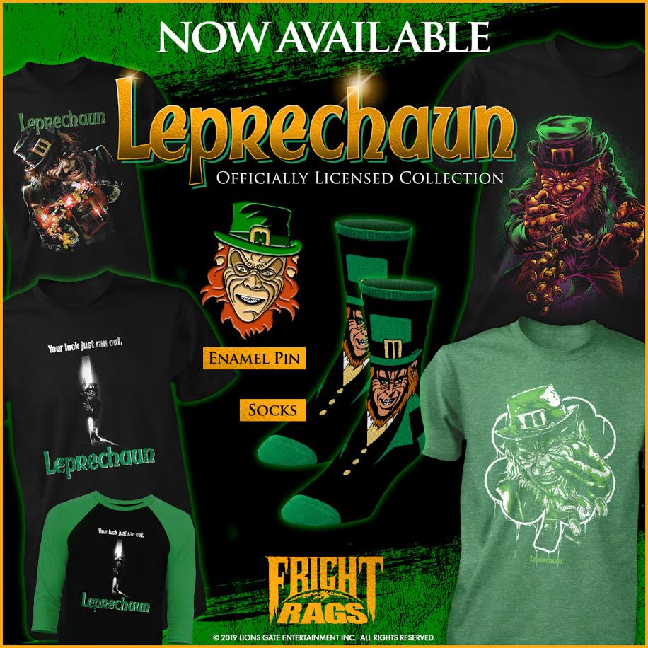 [News] Fright-Rags Debuts LEPRECHAUN & THE FLY Apparel