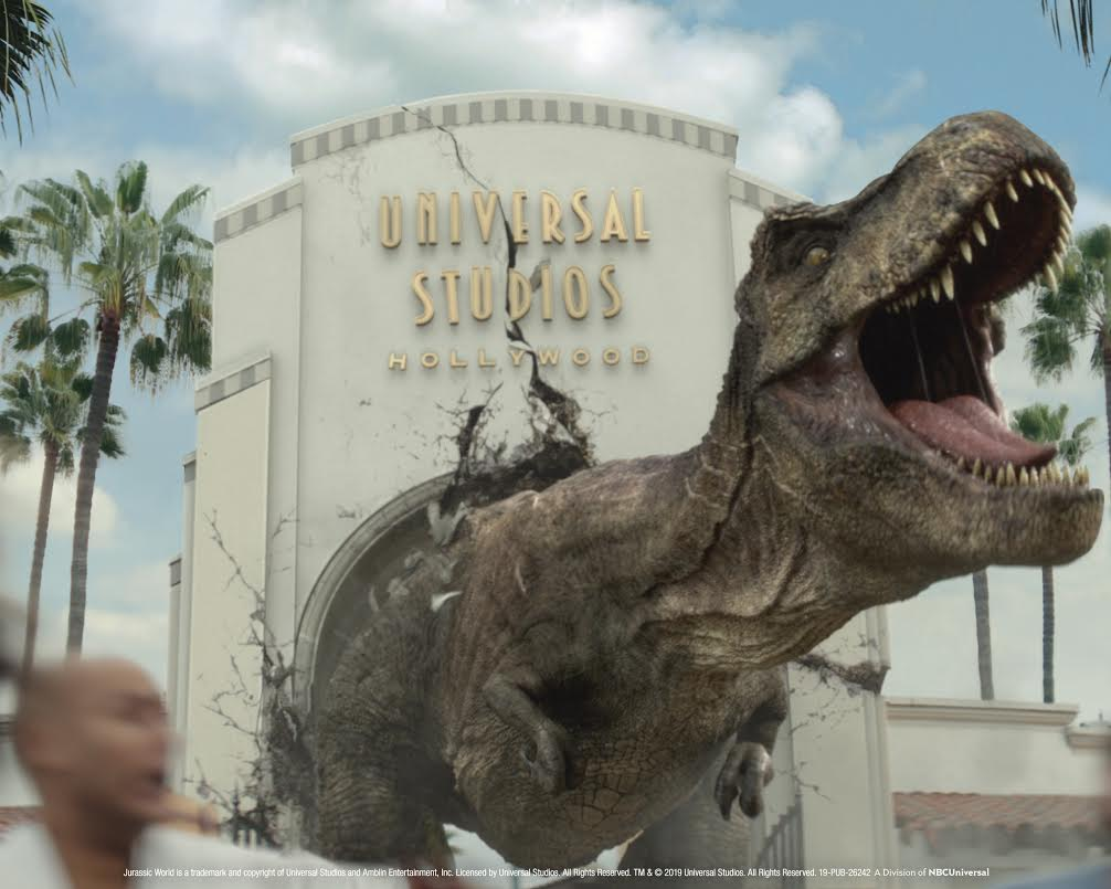 [News] JURASSIC WORLD'S Iconic T-Rex and Mosasaurus Invade Universal Studios Hollywood