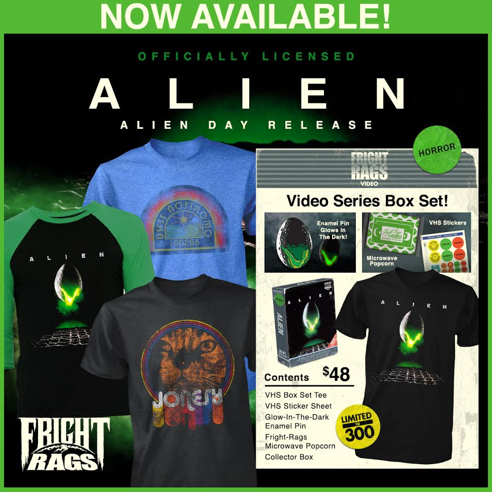 [News] New Merch Announced at Fright Rags