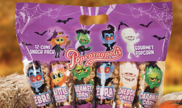 [News] Popcornopolis Launches HALLOWEEN Popcorn​ ​Mini Cones!