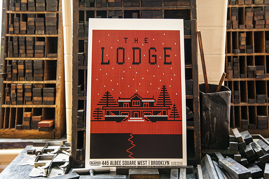 [News] Alamo Drafthouse Debuts New Letterpress Poster for THE LODGE